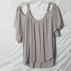 torrid Tops - Torrid Gray Cold Shoulder Top